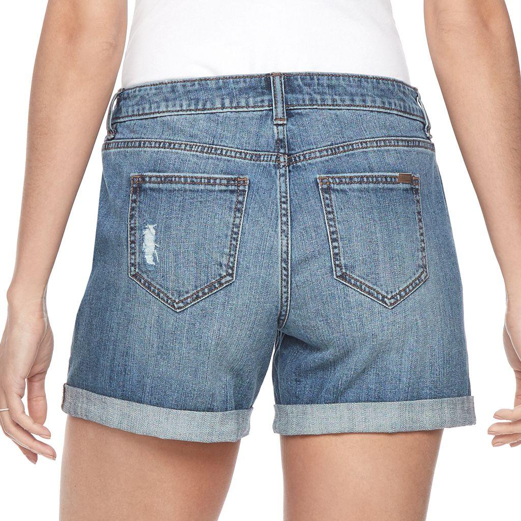 Women's Jennifer Lopez Cuffed Jean Shorts