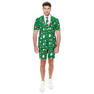 Men's OppoSuits Slim-Fit Santaboss Suit & Tie Set