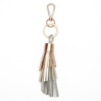 LC Lauren Conrad Metallic Ombre Tiered Tassel Key Chain