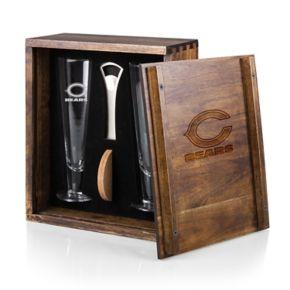 Picnic Time Chicago Bears Pilsner Beer Glass Gift Set