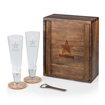 Picnic Time Dallas Cowboys Pilsner Beer Glass Gift Set