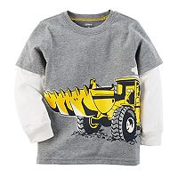 Boys 4-8 Carter's Digger Mock Layer Graphic Tee