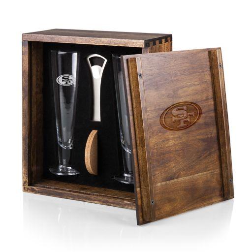 Picnic Time San Francisco 49ers Pilsner Beer Glass Gift Set