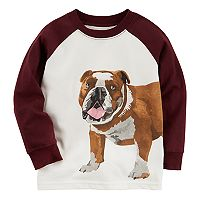 Boys 4-8 Carter's Bulldog Long Sleeve Raglan Graphic Tee