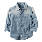 Boys 4-8 Carter's Chambray Button Front Shirt