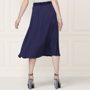 LC Lauren Conrad Runway Collection Pleated Satin Skirt - Women's