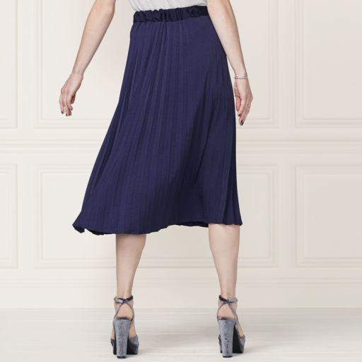 LC Lauren Conrad Runway Collection Pleated Satin Skirt - Women's