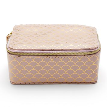LC Lauren Conrad Scalloped Print Travel Jewelry Case