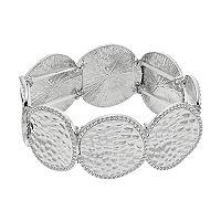 Hammered Disc Stretch Bracelet