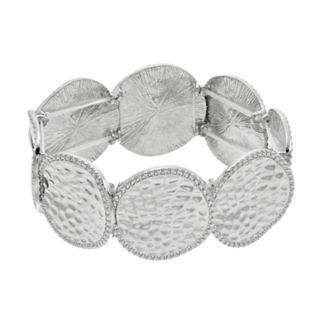 Hammered Disc Stretch Bracelet