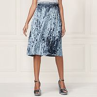 LC Lauren Conrad Runway Collection Pleated Velvet Skirt - Women's