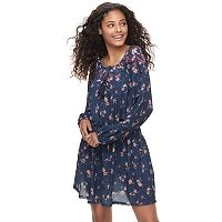 Juniors' Mason & Belle Floral Peasant Dress