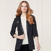LC Lauren Conrad Runway Collection Satin Trim Blazer - Women's