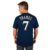 Men's Majestic Milwaukee Brewers Eric Thames Player Name and Number Tee