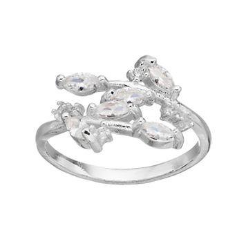 LC Lauren Conrad Cubic Zirconia Marquise Cluster Ring