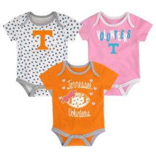 Baby Tennessee Volunteers Heart Fan 3-Pack Bodysuit Set