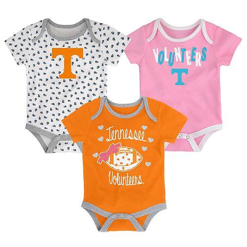 Baby Tennessee Volunteers Heart Fan 3-Pack Bodysuit Set