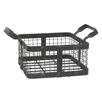 Stonebriar Collection Rustic Metal Basket