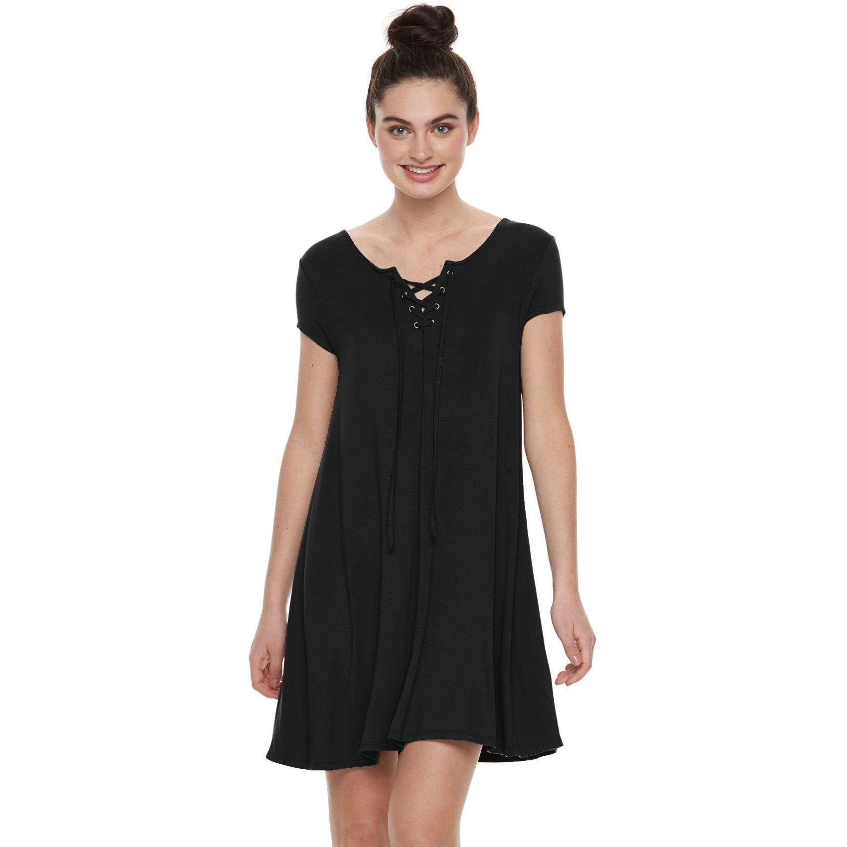 Black lace dress for juniors