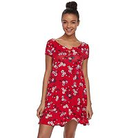 Juniors' SO® Lace-Up Swing Dress