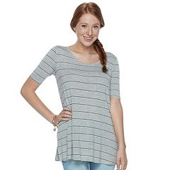 Juniors' SO® Solid Elbow Sleeve Tunic