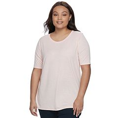 Juniors' Plus Size SO® Elbow Sleeve Tunic Tee