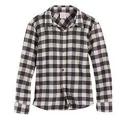 Boys 4-10 Jumping Beans® Flannel Plaid Button-Down Shirt
