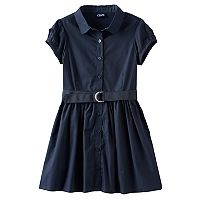 Girls 4-16 Chaps Poplin Belted Shirtdress