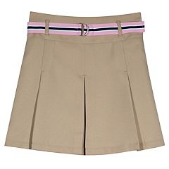 Girls 4-16 & Plus Size Chaps School Uniform Belted Skort