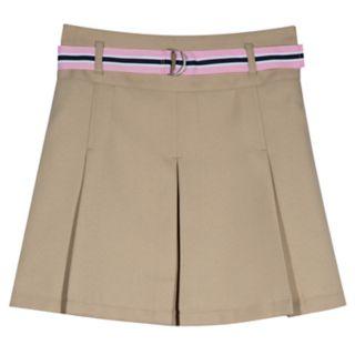 Girls 4-16 & Plus Size Chaps School Uniform Belted Skort
