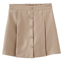 Girls 4-16 Chaps Button Front Skort