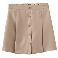 Girls 4-16 Chaps Button Front Skort