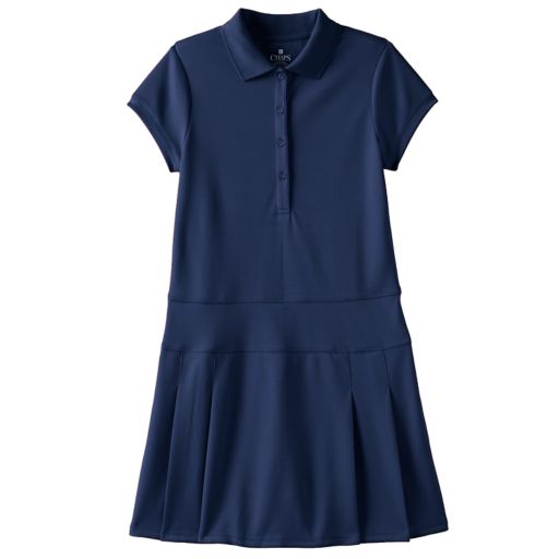 Girls 7-16 Chaps Pleated Polo Dress