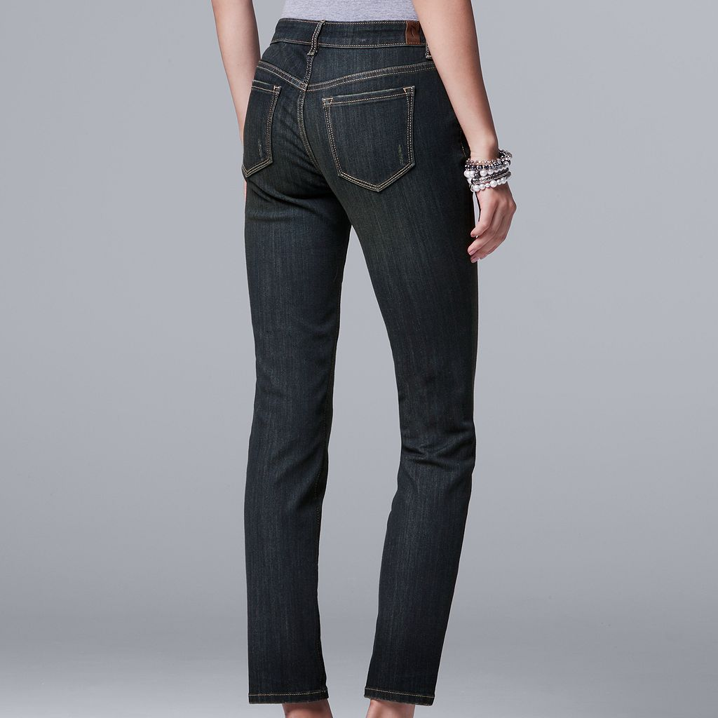 Women's Simply Vera Vera Wang Straight-Leg Jeans