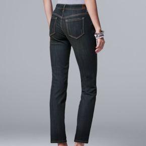 Women's Simply Vera Vera Wang Straight-Leg Jeans