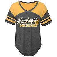 Juniors' Iowa Hawkeyes Football Tee