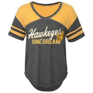 Juniors' Iowa Hawkeyes Football Tee