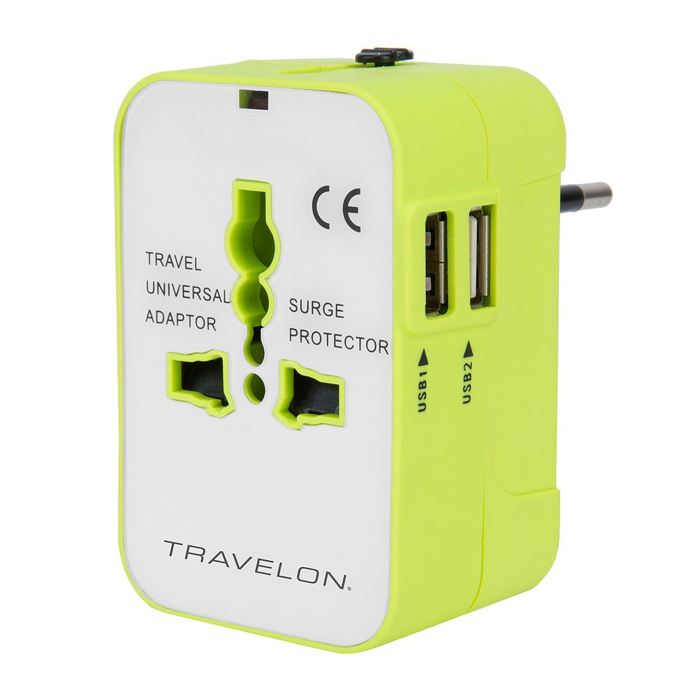 Travelon Worldwide Adapter with Dual USB Charger