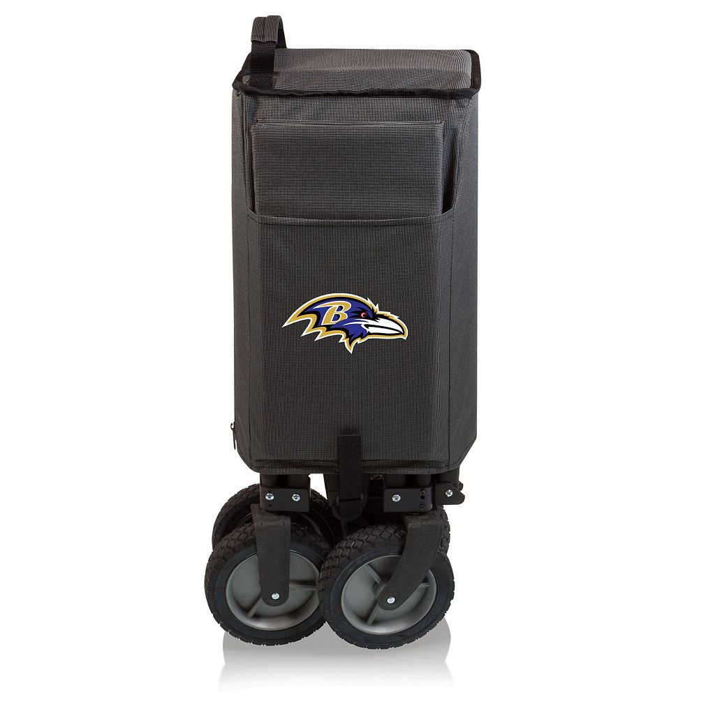 Picnic Time Baltimore Ravens Adventure Folding Utility Wagon