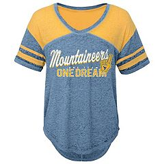 Juniors' West Virginia Mountaineers Football Tee