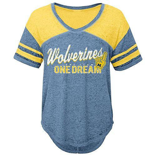 Juniors' Michigan Wolverines Football Tee