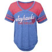 Juniors' Kansas Jayhawks Football Tee