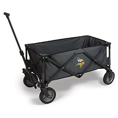 Picnic Time Minnesota Vikings Adventure Folding Utility Wagon