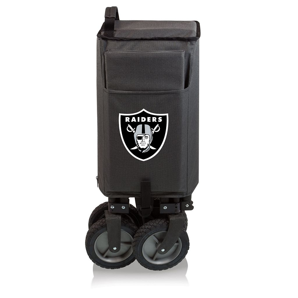 Picnic Time Oakland Raiders Adventure Folding Utility Wagon