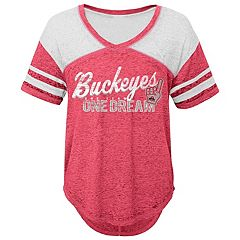 Juniors' Ohio State Buckeyes Football Tee