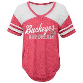 Juniors' Ohio State Buckeyes Football Tee
