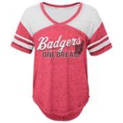 Juniors' Wisconsin Badgers Football Tee