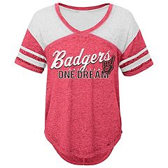Juniors' Wisconsin Badgers Football Tee