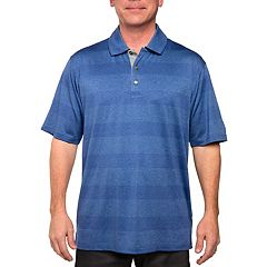 Men's Pebble Beach Classic-Fit Striped Stretch Performance Golf Polo