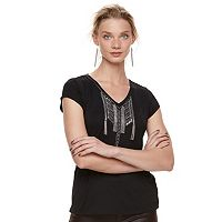 Women's Rock & Republic® Embellished Tassel Tee